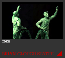 The Brian Clough Statue